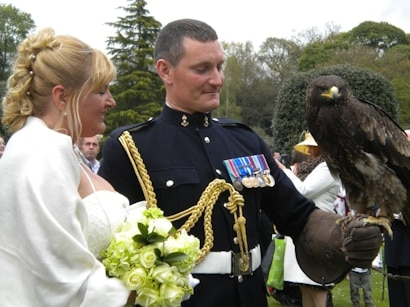 birds of prey to enhance your wedding